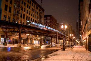 Chicago-Winter-Train