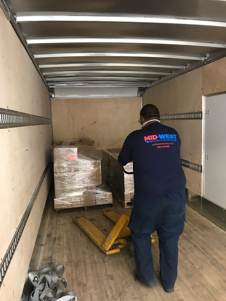 Mid-West Moving & Storage Moving PPE on Truck