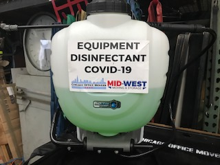 Mid-West Moving & Storage Equipment Disinfectant