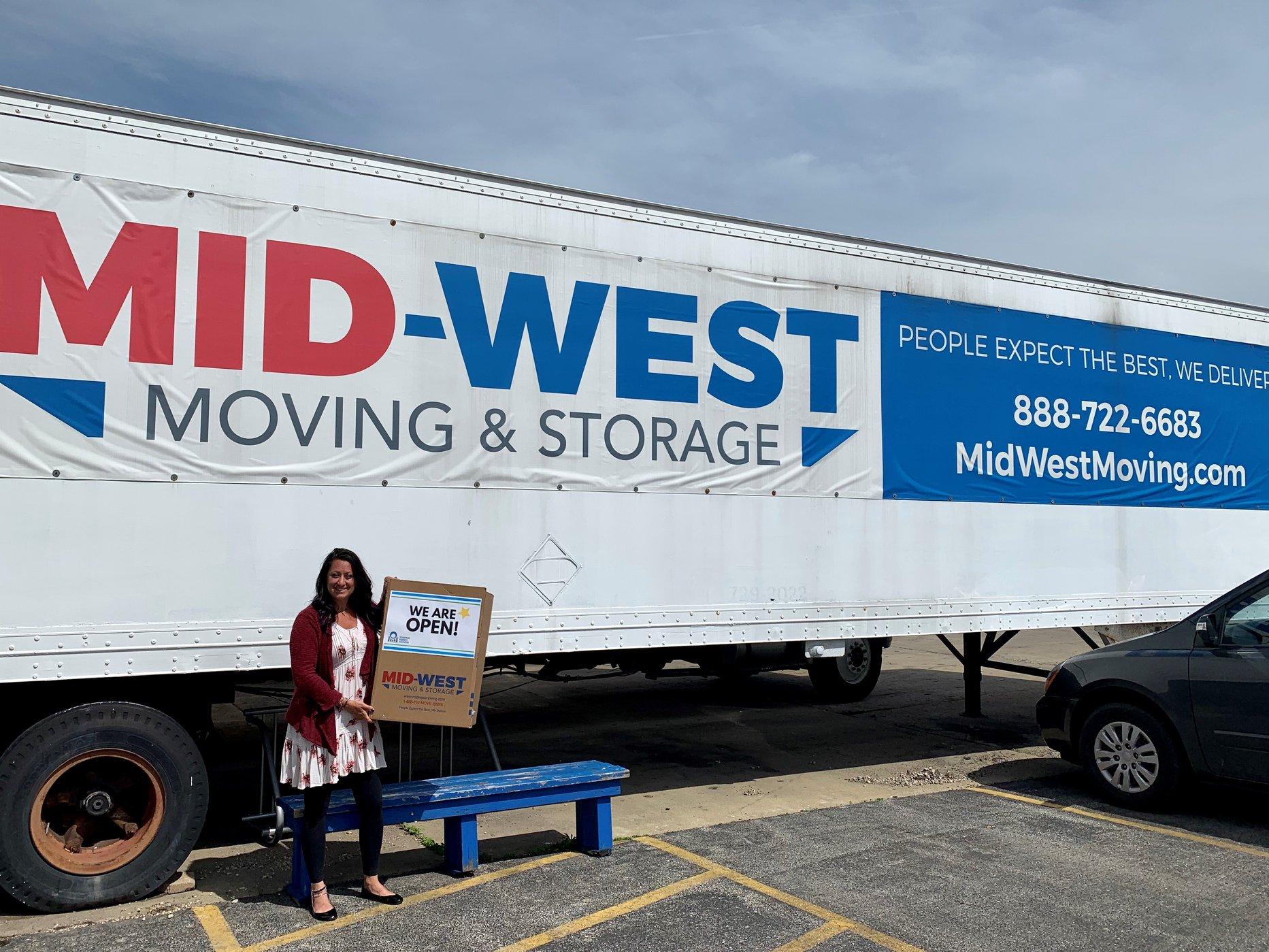 Mid-West Moving & Storage Truck Kari-Ann Ryan
