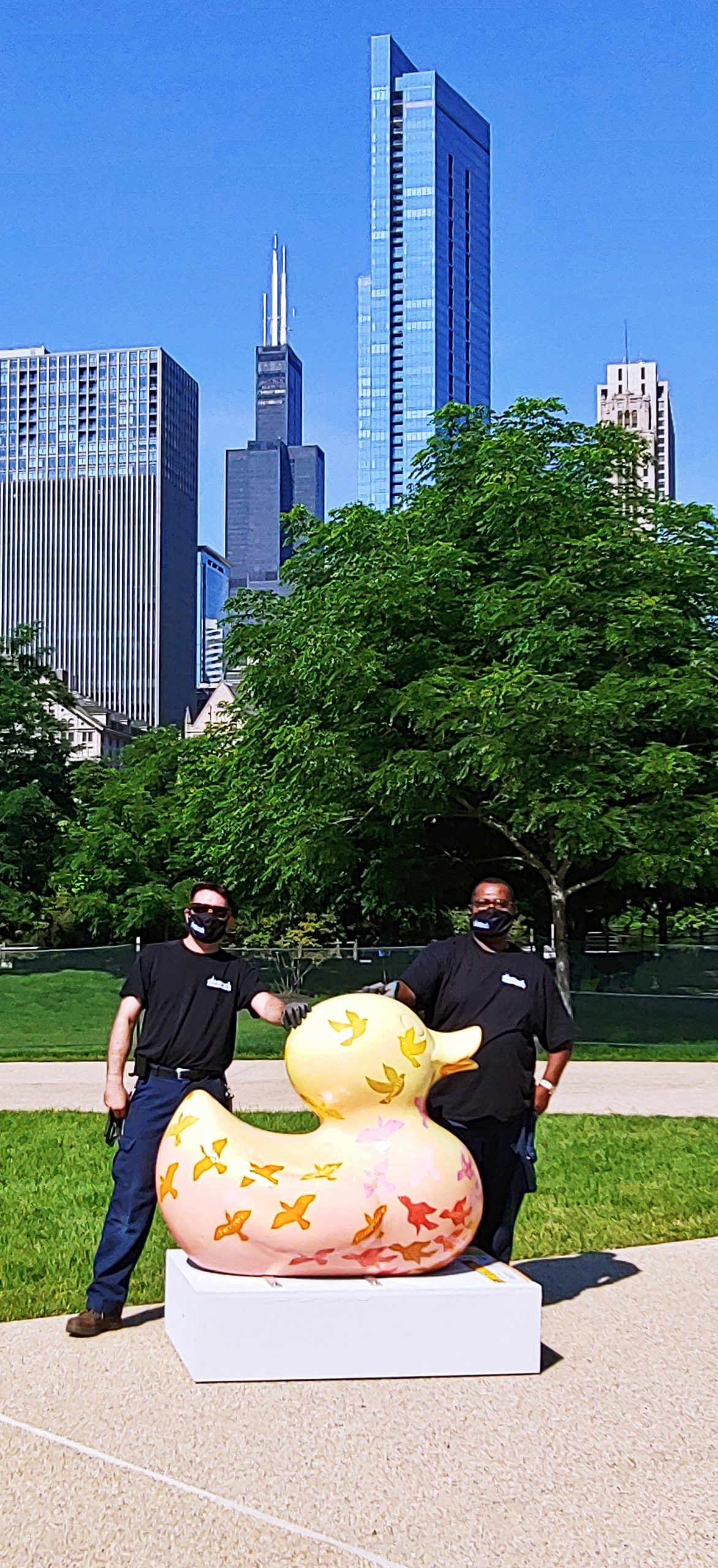 Movers with Ducks on the Mag Mile