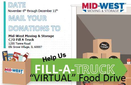 Fill a Truck Food Drive 2020 - Mid-West Moving & Storage
