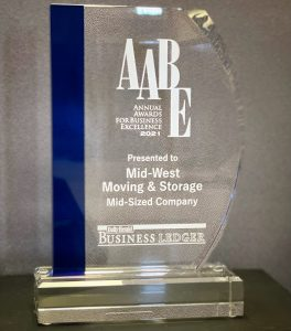 Annual Awards for Business Excellence 2021 - Mid-West Moving & Storage